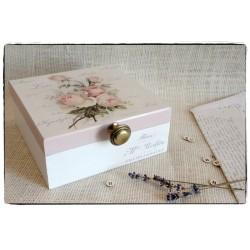 Herbaciarka Pudełko z przegródkami ~Róże Vintage~