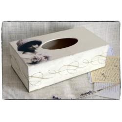 Chustecznik Pudełko na chusteczki ornament~Vintage Retro Girl~