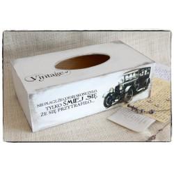 Chustecznik Pudełko na chusteczki ~Vintage Samochód~
