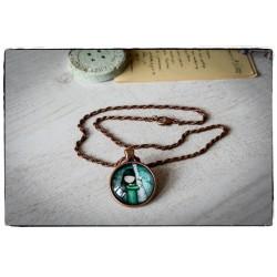 Medalion z łańcuszkiem ~Simply Gorjuss~ Przytulona...