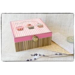 Herbaciarka Pudełko z przegródkami ~~MUFFIN~