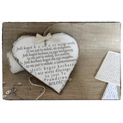 Szyld Tabliczka Serce Cytat Motto o Miłości