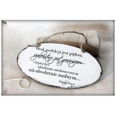 Szyld Cytat Motto Tabliczka z napisem
