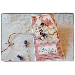 Kartka  scrapbooking ~Moc najpiękniejszych życzeń~