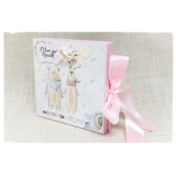 Pudełko w formie kartki okolicznościowej ~ Roczek~ dziewczynka