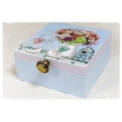 Błękitna herbaciarka, Pudełko z przegródkami ~Les Fleurs~