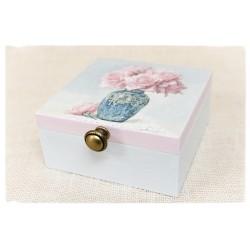 Błękitna herbaciarka, Pudełko z przegródkami ~Róże~